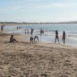 Tolles Wetter in Portugal am Strand von Sao Martinho do Porto