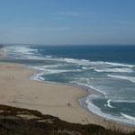 Urlaub in Sao Martinho do Porto, Atlantikküste, Portugal, Strand