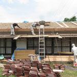 屋根下地の補修(軒先も取り換え)