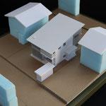 基本計画模型(周辺距離、日射、風当たりの検討を行う。)
