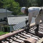 屋根瓦の調整
