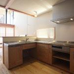 キッチン(L型)家具工房「木のすず」にて製作