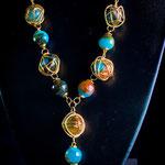 $65 dólares collar de gold filled con aretes