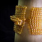 $25 dólares brazalete tejido con mostacillas (se puede hacer en diferentes colores)