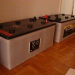 500 Ah akkumulator tarolja a napbol nyert energiat