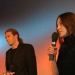 Preisverleihung 2005, Moderation Matthias A.J. Dachwald (li) und Janine Binöder (re)