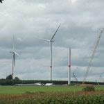 Les éoliennes à proximité du Centre