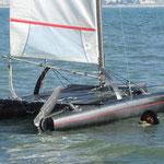 Le bateau flotte, un bruit métallique très particulier que je trouve très agréable
