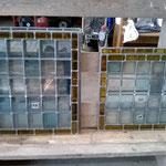 Panneaux de vitraux en verre soufflé