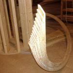 Détail des plis de bois de chêne