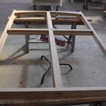 Bâti avec croix de meneau en vue intérieure