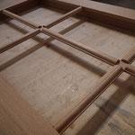Réseau de petits bois avant pose du dé de raccordement