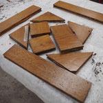Désassemblage des panneaux pour restauration