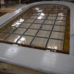 Mise en place des vitraux