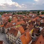 Blick vom Kirchturm auf die am besten erhaltene Altstadt Deutschlands