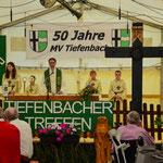 Pfarrer Häuptle eröffnete unser Fest mit einem Gottesdienst