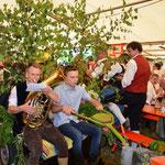 Die Gäste feierten am Sonntag Vormittag den Auftritt der Spitzbuben