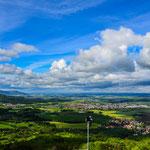 Blick von Hohenzollern auf die schwäbische Alb