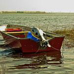 Fischerboot am Bodden