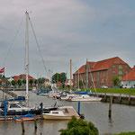 Blick auf den historischen Hafen von Südwesten
