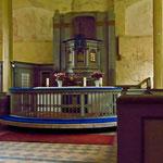 der einzige, bekannte Kanzelaltar in der Lieper Kirche