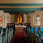 Das Gestühl stammt aus der 1634 durch eine Sturmflut zerstörten Kirche