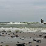Hier ist das für Besucher östliche Ende des Strandes - im weiteren Verlauf des Naturschutzgebietes darf der Strand nicht betreten werden)