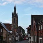 Blick in Richtung Kirche