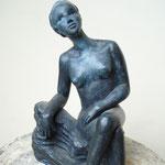 attentive, bronze, 22 cm, Belgique