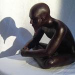 Le mage, bronze, 20 cm, disponible, Québec