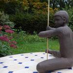 Guerrier, en bronze sur commande, 15 cm, Belgique