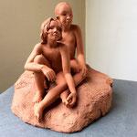 Les Petites Soeurs, en bronze sur commande, 22 cm, Belgique