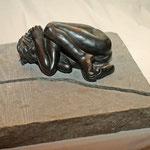 Terrifiée, bronze, 20 cm, disponible en Belgique
