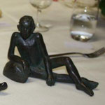 De Loin, bronze, 13cm, Belgique