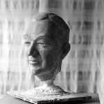 Le Bâtisseur, portrait de Michel Woitrin, Halles universitaires, Louvain la Neuve, Be