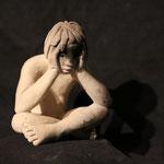 tristesse I, en bronze sur commande, 10 cm, Québec