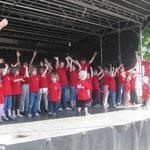 Die Musikgartenkinder nach ihrem Auftritt