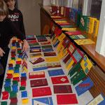 Die Bastelarbeiten der Kinder und Jugendlichen