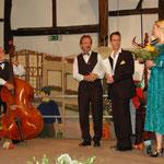 "Als Gäste das Quartett ""Nachtigall & Valentino"""