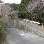 自衛隊さんの官舎横の大谷林道入り口