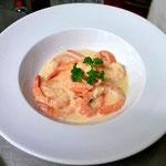 Crevettes coco-gingembre