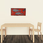Fish1, acrylique sur toile écrue 40cm*20cm