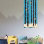 Forêt, acrylique sur bois 55cm*25cm