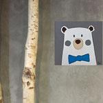 Bear2, acrylique sur bois 15cm*15cm