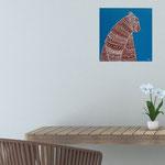 Oursborigène, acrylique sur bois 25cm*25cm  - non disponible