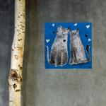Ch'amours, acrylique sur bois 15cm*15cm - non disponible