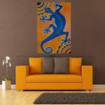 Gecko, acrylique sur bois 120cm*80cm    - non disponible
