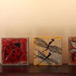 Tryptique 2, acrylique sur bois 15cm*15cm chaque tableau