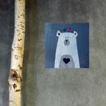 Bear1, acrylique sur bois 15cm*15cm