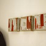 Tryptique 1, acrylique sur toile écrue 12cm*12cm chaque toile
